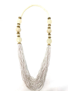 Beachy Beaded Long Necklace