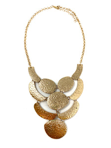 Gold Tone Hammered Necklace