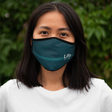 Load image into Gallery viewer, Life You Lead - Fitted Polyester Face Mask - Teal