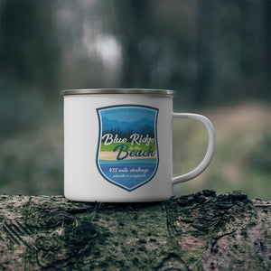 Blue Ridge to The Beach - Enamel Campfire Mug