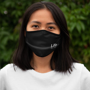 Life You Lead - Fitted Polyester Face Mask BLK