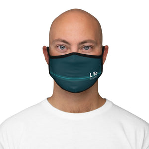 Life You Lead - Fitted Polyester Face Mask - Teal