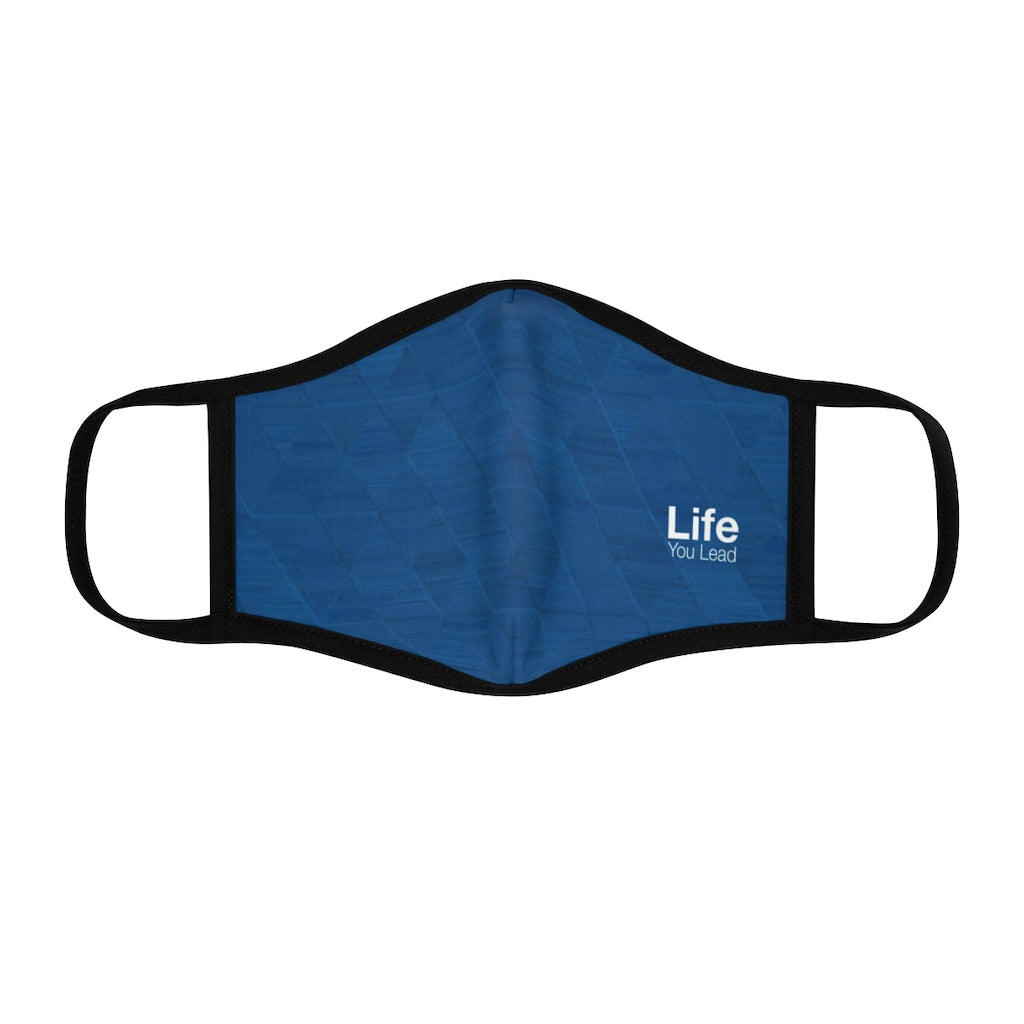 Life You Lead - Fitted Polyester Face Mask - Blue Ocean