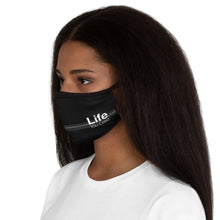 Load image into Gallery viewer, Life You Lead - Fitted Polyester Face Mask BLK