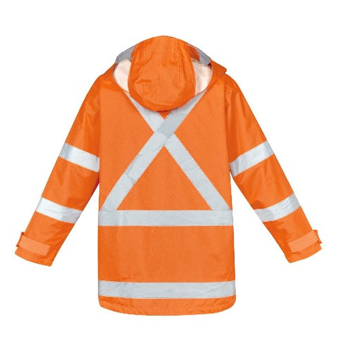 MENS TTMC-W17 HI VIS X BACK 4 IN 1 WATERPROOF JACKET   ZJ616