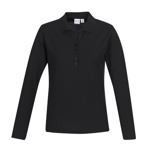 AMDG Crew Ladies L/S Polo P400LL