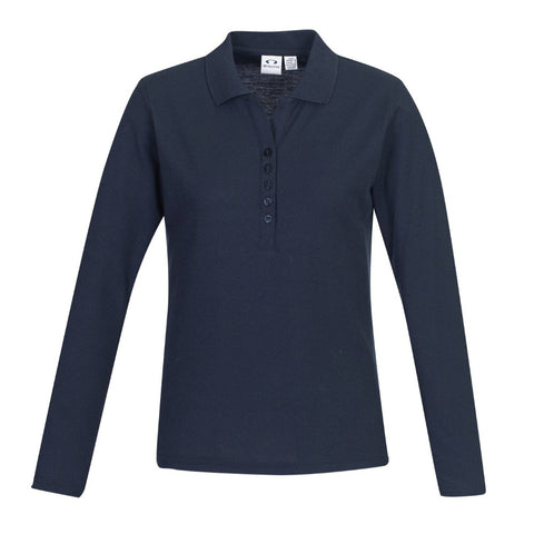Image of NZCCA Crew Ladies L/S Polo P400LL