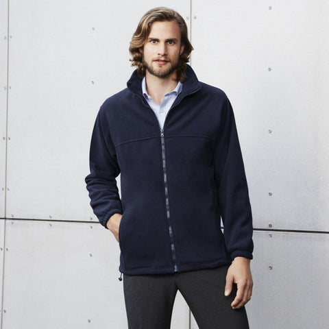 Image of Mens Plain Micro Fleece Jacket PF630