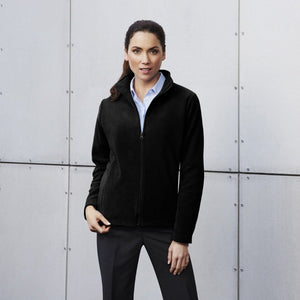 Ladies Plain Micro Fleece Jacket PF631