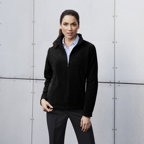 Image of Ladies Plain Micro Fleece Jacket PF631