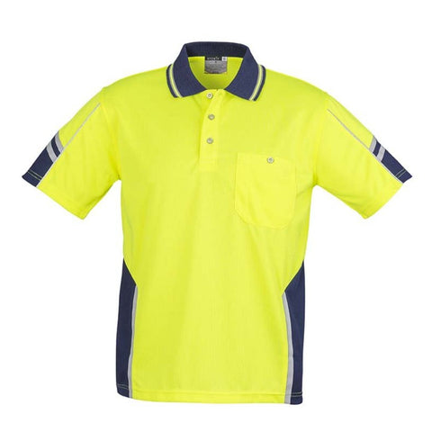 Image of MENS HI VIS SQUAD S/S POLO   ZH237