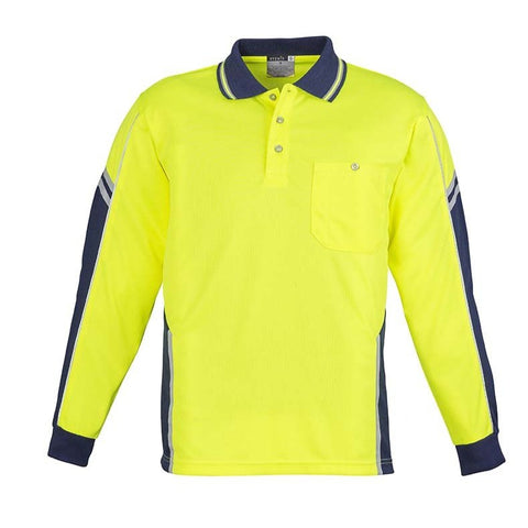 Image of MENS HI VIS SQUAD L/S POLO   ZH238