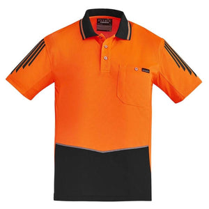 MENS HI VIS FLUX S/S POLO   ZH315