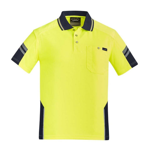 Image of MENS REINFORCED HI VIS SQUAD S/S POLO   ZH465