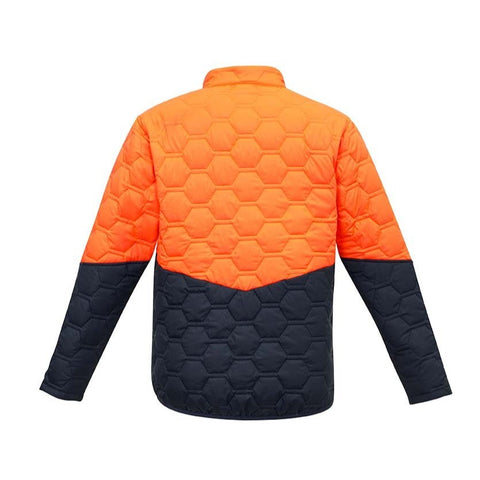 UNISEX HEXAGONAL PUFFER JACKET   ZJ420
