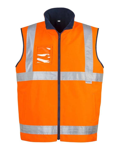 MENS HI VIS LIGHTWEIGHT FLEECE LINED VEST   ZV358