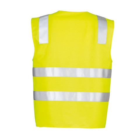 Image of UNISEX HI VIS FULL ZIP VEST   ZV998