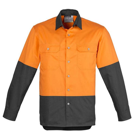 Image of MENS HI VIS SPLICED INDUSTRIAL SHIRT   ZW122