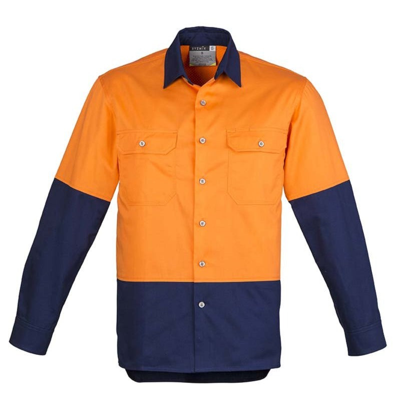 MENS HI VIS SPLICED INDUSTRIAL SHIRT   ZW122