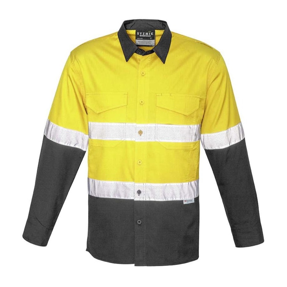 MENS RUGGED COOLING TAPED HI VIS SPLICED SHIRT   ZW129