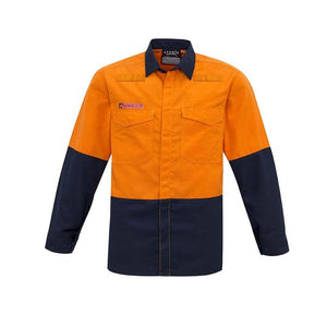 MENS HI VIS SPLICED SHIRT   ZW138