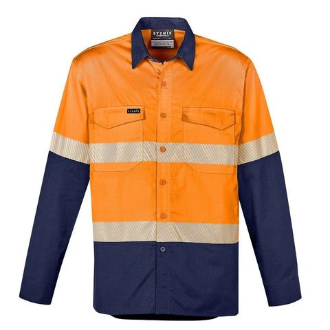 Image of MENS RUGGED COOLING HI VIS SEGMENTED TAPE L/S SHIRT   ZW229