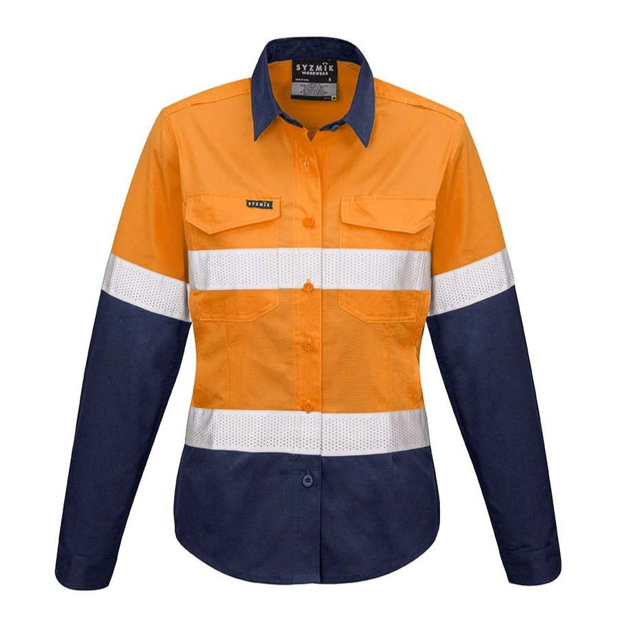 WOMENS RUGGED COOLING TAPED HI VIS SPLICED SHIRT   ZW720