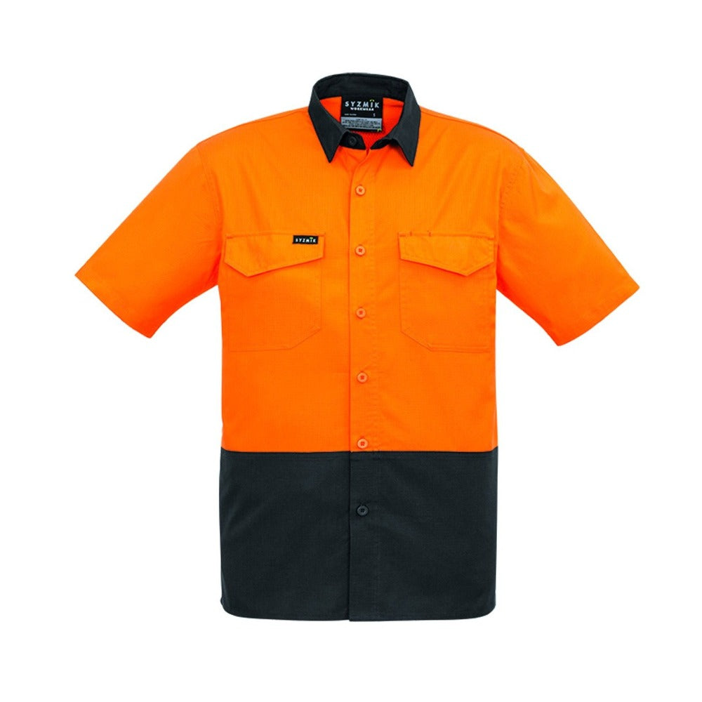 MENS RUGGED COOLING HI VIS SPLICED S/S SHIRT   ZW815