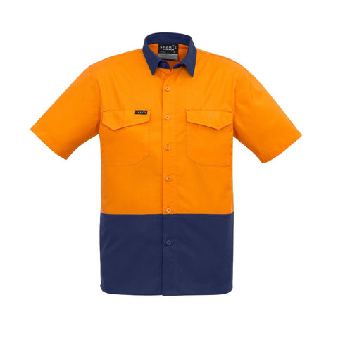 Image of MENS RUGGED COOLING HI VIS SPLICED S/S SHIRT   ZW815