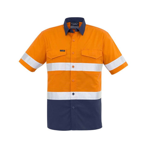 Image of MENS RUGGED COOLING TAPED HI VIS SPLICED S/S SHIRT   ZW835