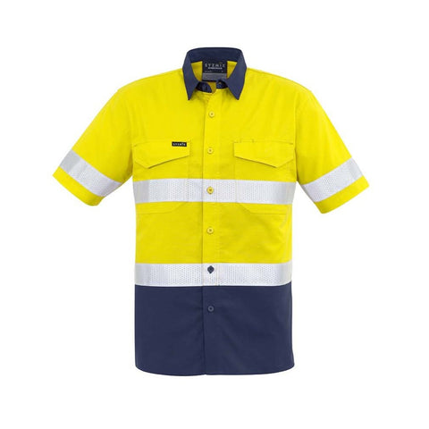 MENS RUGGED COOLING TAPED HI VIS SPLICED S/S SHIRT   ZW835