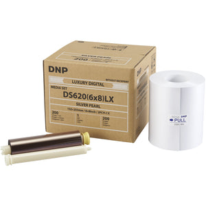 "DNP DS620A Luxury Media - ""6x8 Silver Pearl 200 Prints 1 Roll Per Case"