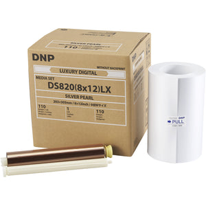 "DNP DS820A Luxury Media - 8x12"" Silver Pearl 110 Prints 1 Roll Per Case"