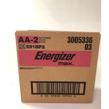 Load image into Gallery viewer, Energizer AA 2 Pack Batteries Master Case 24 Cards ($1.50 Per Card)