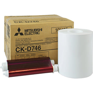 Mitsubishi CK-D746 4x6 Print Kit for use with CP-D70DW, CP-D707DW and CP-D90DW Printers 4x6 print kit, 2 rolls, 800 prints total