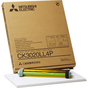 Mitsubishi CK3020LL4P 8x10 Glossy for use with CP-3020 Printer 8x10 Glossy, 250 Prints Total