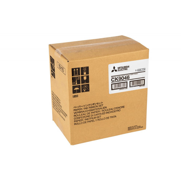 Mitsubishi CK9046 4x6 Print Kit for use with Mitsubishi CP-9000DW, CP-9500DW and CP-9550DW Printers 4x6 Media, 600 Prints Total
