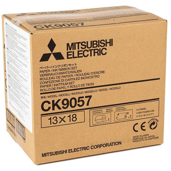 Mitsubishi CK9057 5x7 Media for use with Mitsubishi CP-9000DW, CP-9500DW and CP-9550DW Printers 5x7 Media, 350 Prints Total