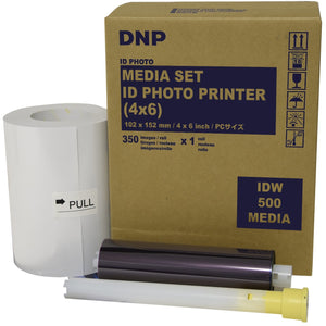 "DNP 4"" x 6"" Single Packaged Roll ID Media for use with IDW500 Passport ID Photo Solution"