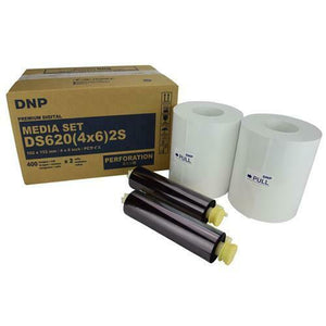 "DNP DS620 Single Perforated 4"" x 6"" Media for use with DS620 Printer 800 Total Prints (400x2)"