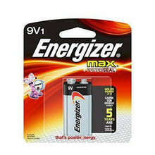 Load image into Gallery viewer, Energizer 9V 1 Pack Batteries Master Case 24 Cards ($2.55 Per Card)