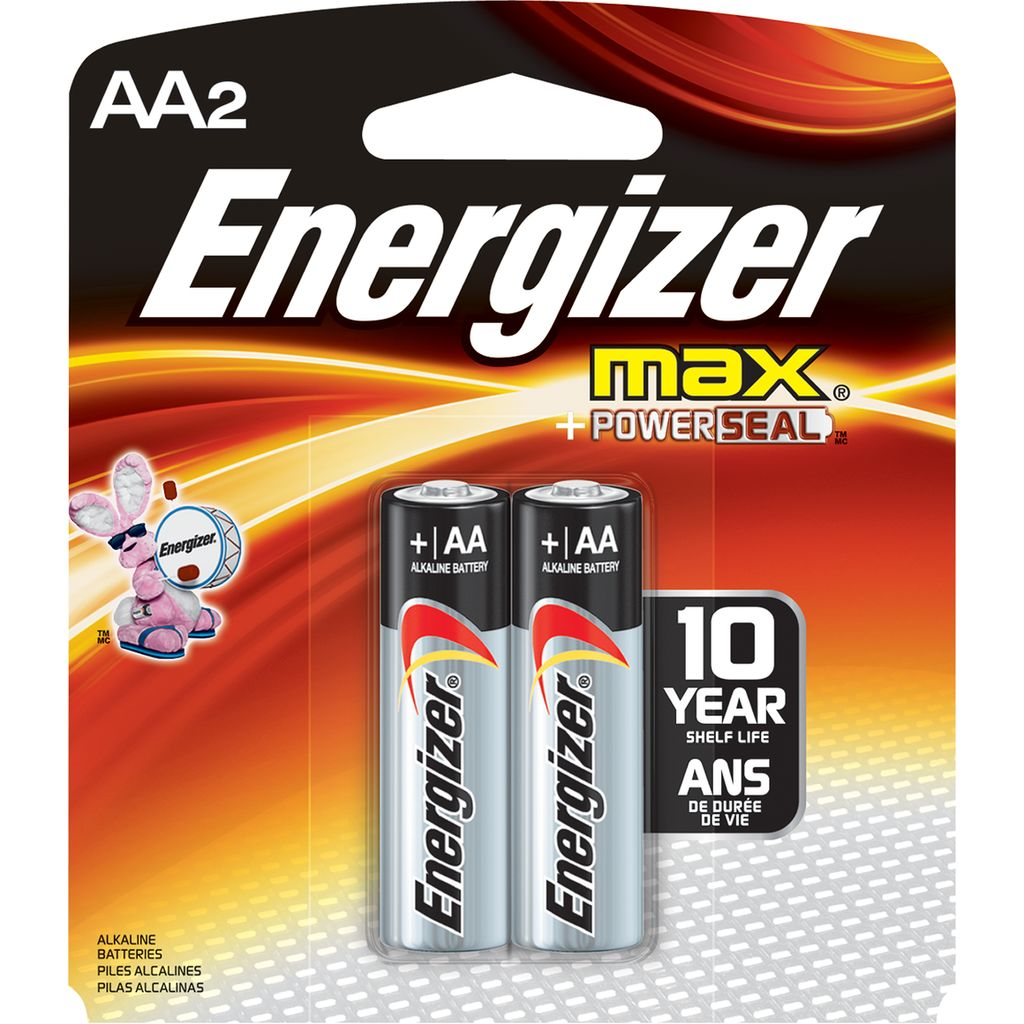 Energizer AA 2 Pack Batteries Master Case 24 Cards ($1.50 Per Card)