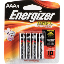 Load image into Gallery viewer, Energizer AAA 4 Pack Batteries Master Case 24 Cards ($2.46 Per Card)