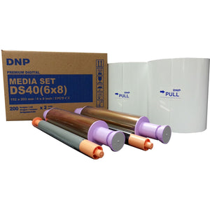 "DNP 6"" x 8"" Print Kit for use with DS40 Printer 6"" x 8"" Print Kit, 2 Rolls, 400 Prints Total"