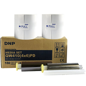 "DNP 4"" x 6"" Print Kit for use with QW410 Printer 4"" x 6"" Print Kit, 2 Rolls, 300 Prints Total"