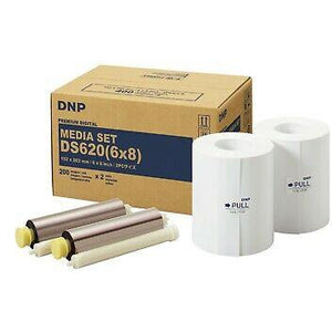 "DNP 6"" x 8"" Print Pack for use with DS620A Printer 6"" x 8"" Print Pack, 2 Rolls, 400 Prints Total"