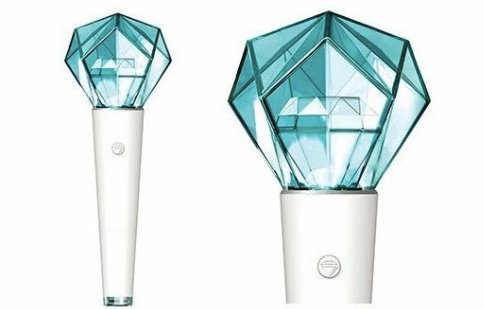 shinee lightstick shating star full and close up white background