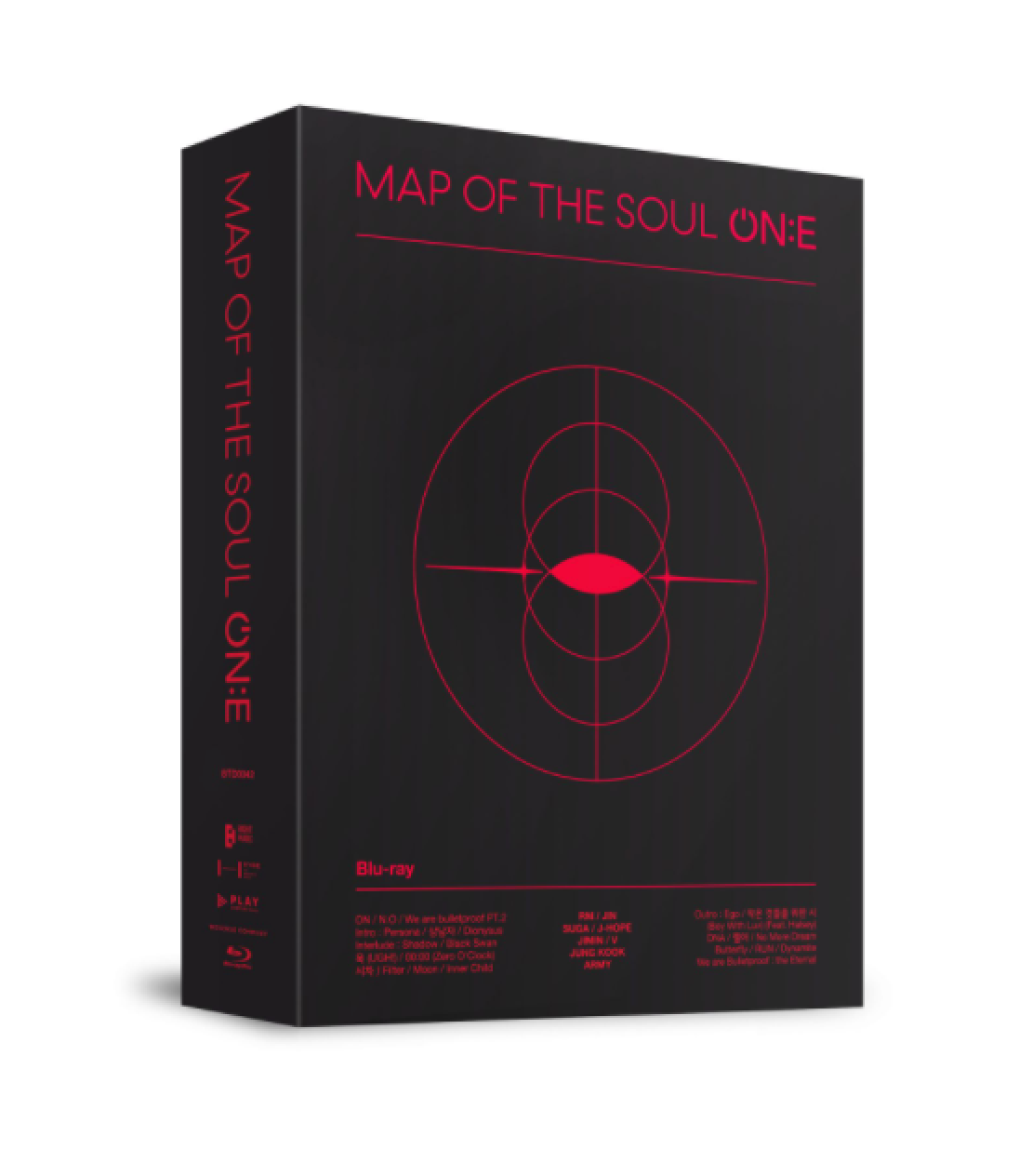 bts map of the soul on:e blu-ray black outbox