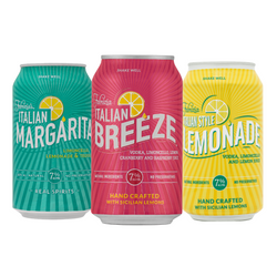 1 Case Fabrizia Canned Cocktail Variety Pack (24 Cans - 2 Marg/Breeze/Lemonade 4 Packs)