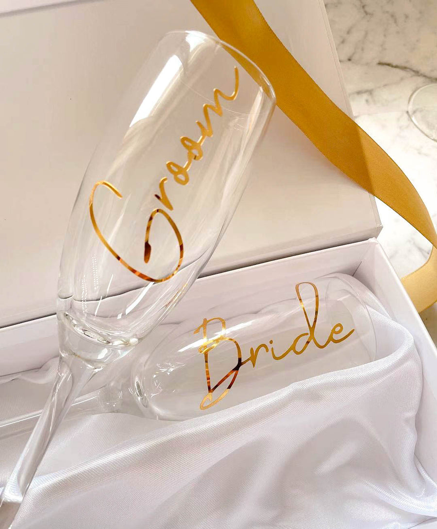 Champagne Celebration Gift Box | Two Personalised Champagne Flutes
